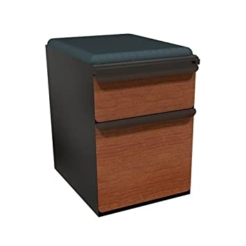 Zapf 2 Drawer Mobile Pedestal File Cabinet Frame Finish: Dark Neutral,  Drawer Finish