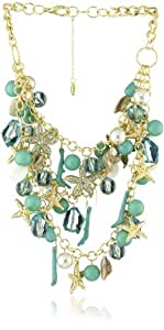 Amrita Singh 18k Gold Plated Multi-Strand Sea Theme Necklace