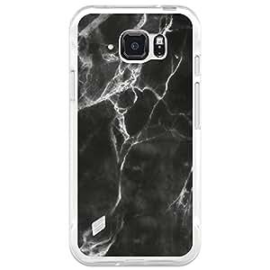 Funda Gel Samsung Galaxy S6 Active BeCool Mármol Negro y Blanco