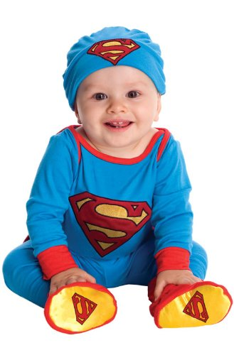 DC Comics Superman Onesie And Headpiece, Blue, Newborn ()