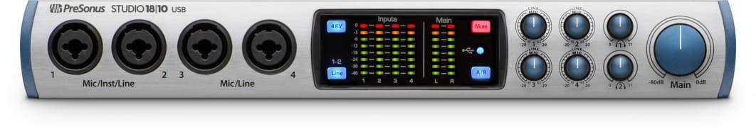 PreSonus Studio 2|6 2x4, 192 kHz, USB 2.0 Audio Interface STUDIO 26