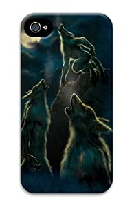 3 Werewolf Moon Polycarbonate Hard Case Cover for iPhone 4/4S 3D