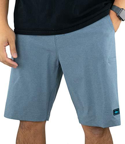 Pelagic Men's Mako Hybrid Fishing Shorts | 21 Inch Outseam | Quick Drying
