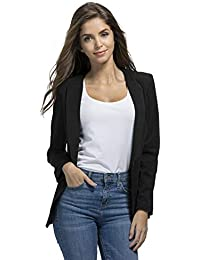 0d5e3c4e00a Womens Casual Basic Work Office Cardigan Tuxedo Summer Blazer Open Front  Boyfriend Jacket