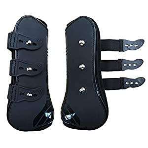 Zelro Open Front Jumping Tendon and Hind Fetlock Horses Boots, Secure Leg Protection, Lightweight and Tough Dressage Horse Riding Equestrian Equipment 12