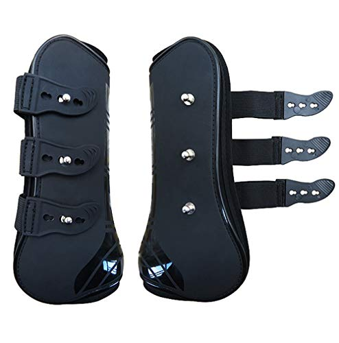 Zelro Open Front Jumping Tendon Horses Boots, Secure Leg Protection, Lightweight and Tough Dressage Horse Riding Equestrian Equipment