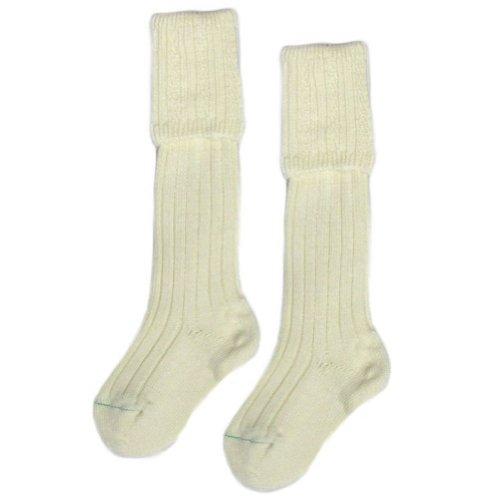 Boys Scottish Kilt Sock/Hose In Cream - Size 3 - 7 (Checked Kilt)