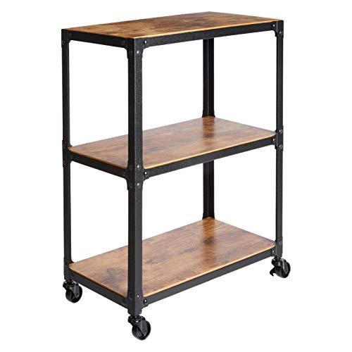 AmazonBasics 3-Tier Wood and Metal Utility Cart, - Cart Laminator