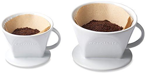 Aerolatte Pour Over Coffee Dripper Reusable Filter Cone Brewer, Number 4-Size, Brews 8 to 12-Cups by aerolatte (Image #5)