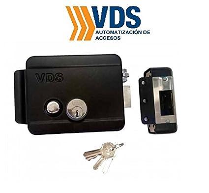 Cerradura electrica puerta batiente automática, electrocerradura con pulsador 9-12v dc - VDS puerta garaje batiente automatica o peatonal