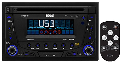 BOSS AUDIO 870DBI Double-DIN CD/MP3 Player Receiver, Bluetooth, Detachable Front Panel, Wireless Remote