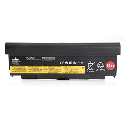 AMANDA 9 Cell 57++ New Battery Replacement for Lenovo ThinkPad T440P T540P W540 W541 L440 L540 45N1152 45N1153 0C52864 11.1V 8960mAH by Amanda