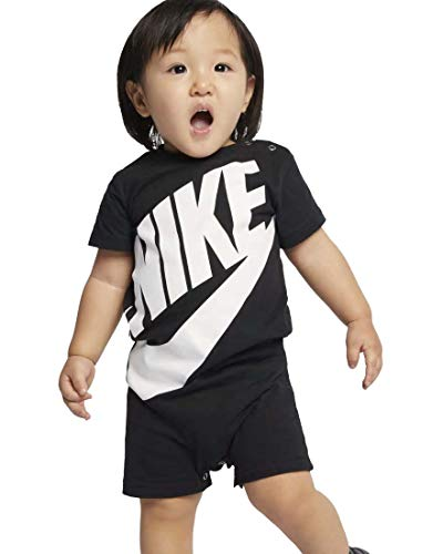 (Nike Baby Boy Infant Shortall (Black(66D369-023)/White, 3)