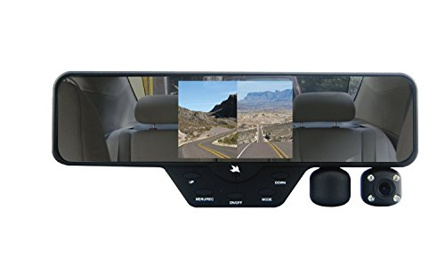 Visor Cheer (Falcon Zero F360+ HD DVR Dual 1080P 3.5-Inch Color TFT Rear View Mirror LCD Dash Cam with 32GB SD Card)