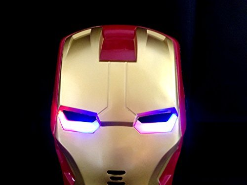 Iron Man Mask Light Up Eyes - 1