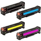 Toner Eagle Compatible 4-Color Toner Cartridge for use in Hewlett Packard Color LaserJet Pro CP1525 CP1525nw (HP 128A). Replaces Part # CE320A, CE321A, CE322A and CE323A.