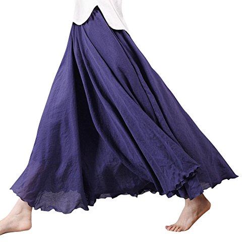 De Vestidos Larga Grande Boda Falda Noche Boho Vestido Elegante Maxi Mujer Cintura De Playa Plisadas Falda Armada De Fiesta Elástica xftvZqU