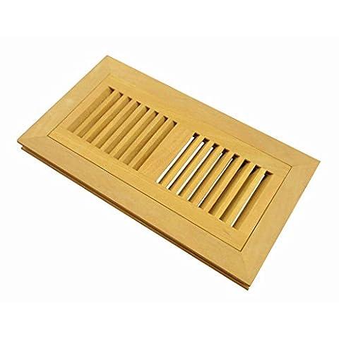 Welland 6 Inch x 12 Inch Santos Mahogany Hardwood Vent Floor Register Flush Mount Unfinished - Santos Mahogany Hardwood Flooring