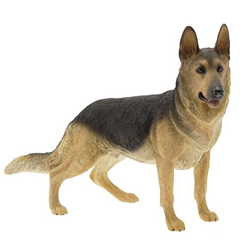 Leonardo Black & Brown Alsation German Shepherd Dog Figurine Statue Attractive Ornament Gift For A Dog Lover