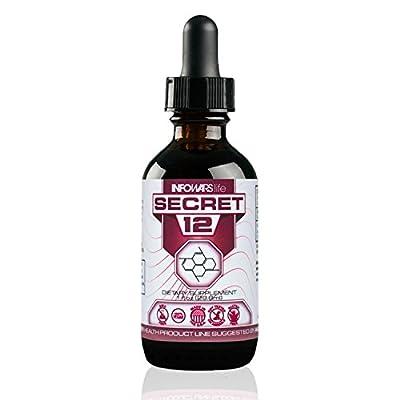 Secret 12 Vitamin B12 Liquid 2,500 mcg (1 oz.) – Instantly Boost Energy Levels & Speed Up Metabolism – Vegan, Non-GMO & Gluten Free Sublingual Drops