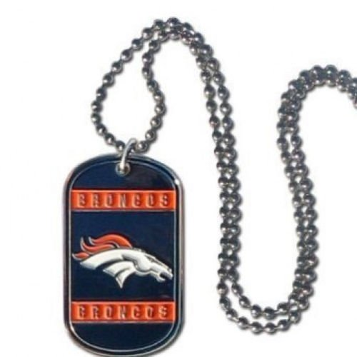 NFL Stainless Steel Dog Tag Necklace - Denver Broncos