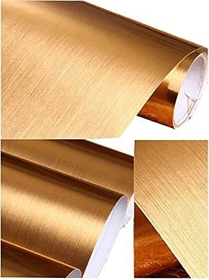 Peel y Stick cepillado acero inoxidable láminas de vinilo ...