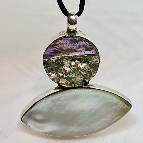 Mother of Pearl & Abalone Shell Pendant - Glamorous! 4178 ()
