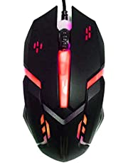 ماوس العاب باضاءة خلفية ثلاثية الابعاد بالوان قوس قزح - LED متعددة الالوان