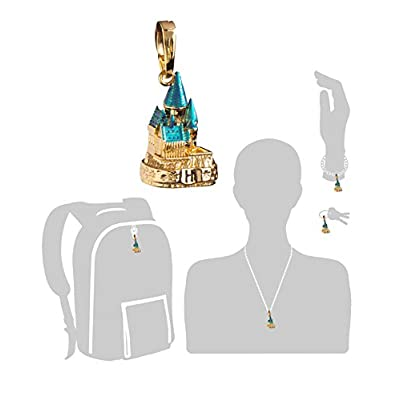 The Noble Collection Lumos Harry Potter Charm No. 2 - Hogwarts Castle (Gold Plated): Toys & Games