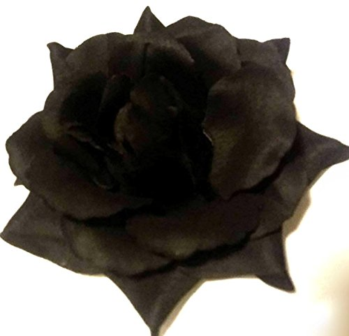 Black Rose Halloween Day of the Dead Hair Flower Clip and Pin
