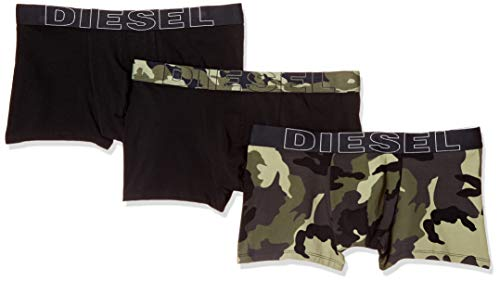 (Diesel Men's UMBX-DAMIENTHREEPACK Boxer-Brief 3pack Military/Green M)