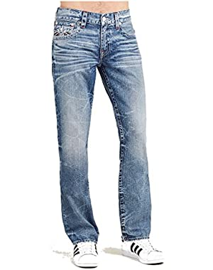 Men's Straight Leg Relaxed Fit Flap Reverse Logo Jeans in Desperado Ride