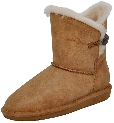 BEARPAW Women's Rosie Winter Boot (6 B(M) US, Tan Smooth)
