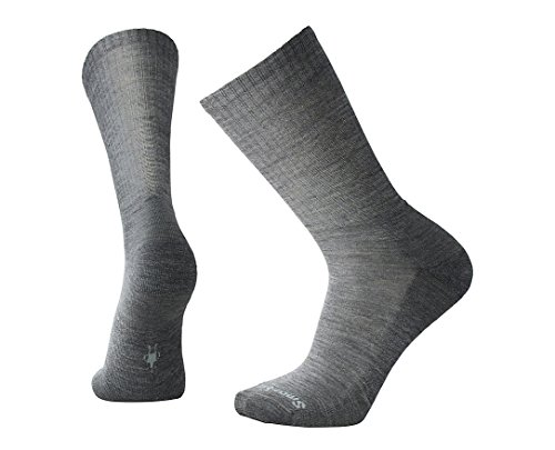 SmartWool Men's Heathered Rib Socks (Medium Gray) X-Large (Rib Smartwool Sock Classic)