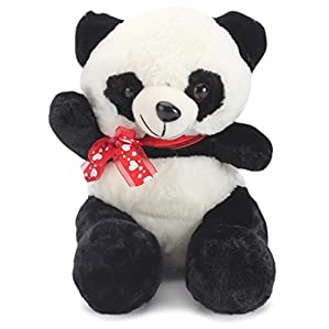Tickles White Panda With Bow Stuffed Soft Plush Toy26 cm