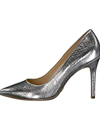 Womens Claire Pump Leather, Metallic Embossed, Size 7.0