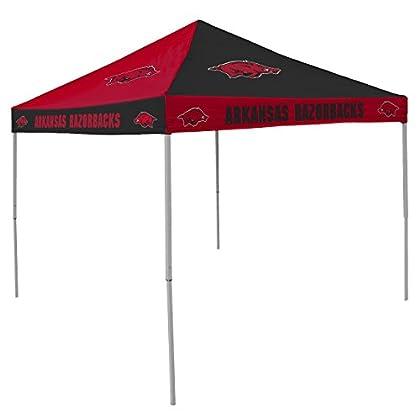 Image of Canopies NCAA Arkansas Razorbacks 9-Foot x 9-Foot Pinwheel Tailgating Canopy, Red/White