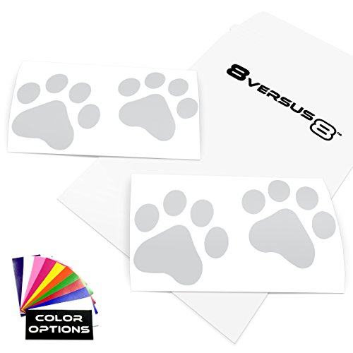 [Dog Cat Paw Print Vinyl Decal Sticker - Quantity: 4 - Indoors or Outdoors - Cars, Laptops, Windows, etc. (3.5