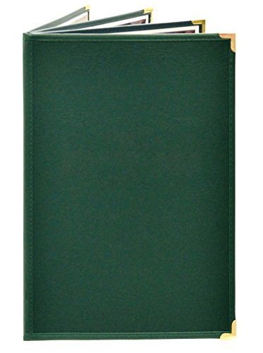 12 Menu Covers • Refined PAJCO Material #4076 Green Quad Panel - 6-View - 8.5