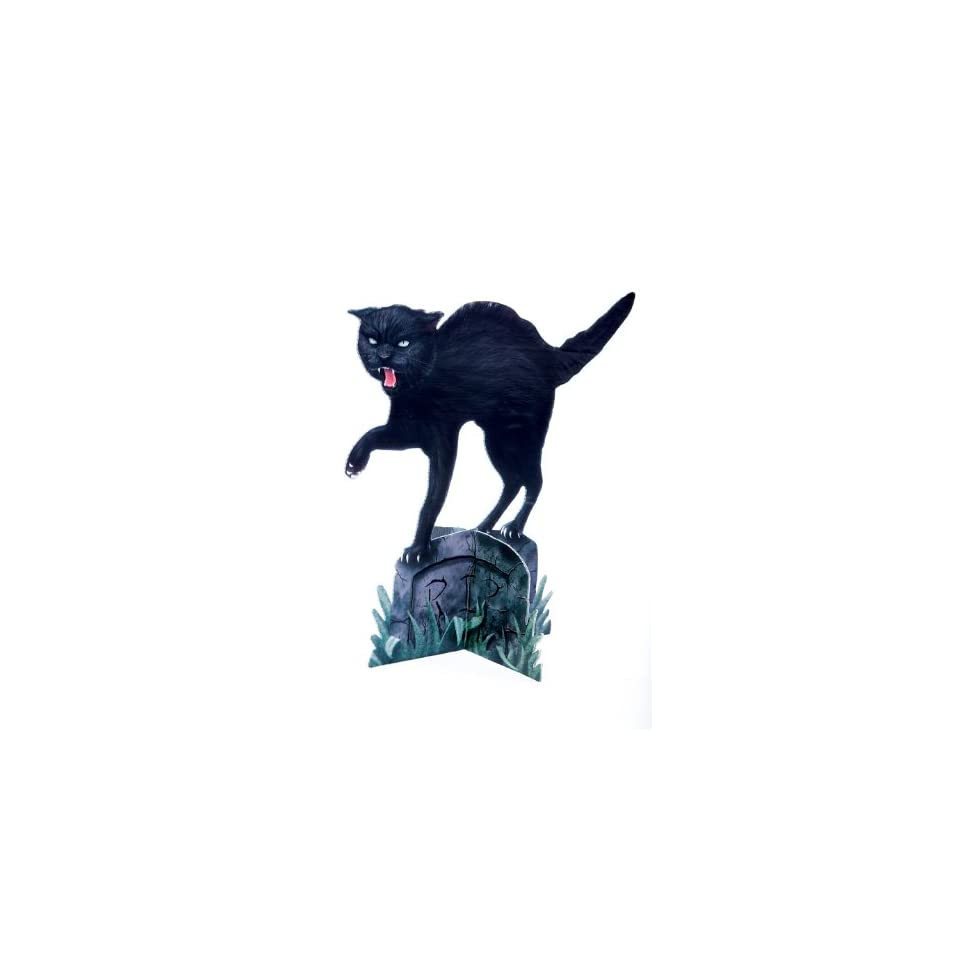 Scary Black Cat Stand Up Decoration Halloween Prop