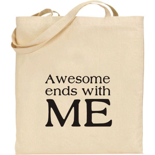 Beige Rhino Bag with Ends Print Black and Mugsy Me Awesome Tote from R1xwtR0Aq