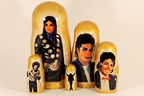 Matryoshka Michael Jackson 5 Nesting Dolls