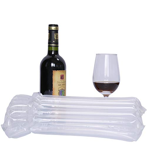 15 Pack Bubble Cushion Wrap Glass Sleeves for Luggage Wine Bottle Protector