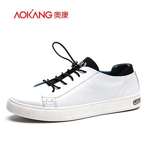Aemember scarpe da uomo, antiscivolo Motion comfort-strap piatto scarpe ,40, bianco