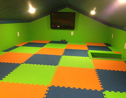 Amazon.com : IncStores Premium Interlocking Foam Tiles   Ideal For P90x,  Insanity, Pilates, Yoga, Other Aerobic/cardio Work Outs, And Kids Playrooms.