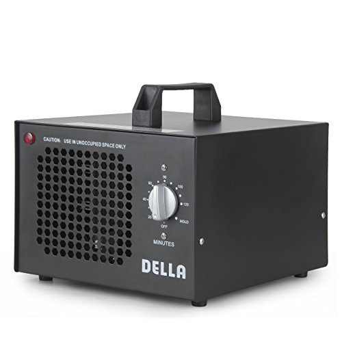 DELLA Commercial Ozone Generator 7500mg Industrial O3 Air Purifier Black Deodorizer Sterilizer For Sale