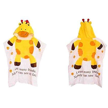 nicedaily Animal Bebé Albornoz con capucha suave forro polar con capucha toallas bebé Wrap Baño Piscina