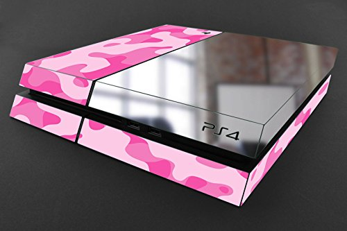 (Scott ALlah Design Playstation 4 Console Skin - Pink Army Costume Military Camouflage Inspiration to Chrome and Army Camo Skin Stickers Premium Quality (MRE)