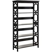 Convenience Concepts Omega 5-Tier Bookcase, Black