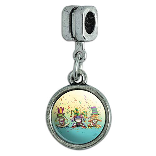 (GRAPHICS & MORE Party Frogs Mardi Gras See No Evil Hear Speak Italian European Style Bracelet Charm Bead)